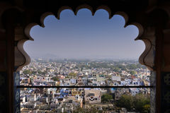Udaipur City View from City Palace. View of Udaipur City from the balcony of city palace Stock Photo