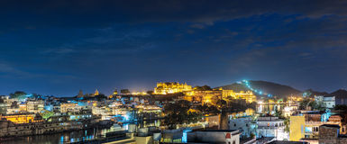 Udaipur, evening view of the city and City Palace complex. Udaip Stock Photography