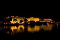 udaipur för stadsnattslott royaltyfri bild