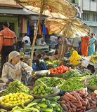 Udaipur Food Market - Rajasthan - India. The busy food market in the city of Udaipur in Rajasthan in western India Stock Photography