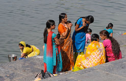 Udaipur Ghats 4. The bathing ghats of Udaipur in Rajasthan, NW-India stock photo