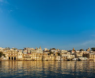 Udaipur houses and ghats on lake Pichola. Udaipur, Rajasthan, In Royalty Free Stock Images