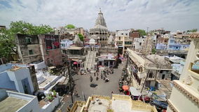 UDAIPUR, INDIA - APRIL, 2013: Everyday city scene stock footage