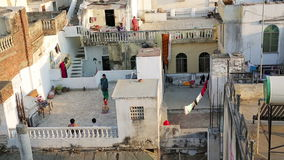 UDAIPUR, INDIA - APRIL, 2013: Everyday scene stock footage