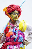 Udaipur, India, september 14, 2010:  A portrait od indian hijra. Dancing on a local street in india Stock Photography
