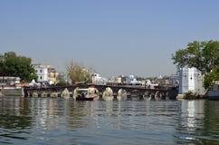 Udaipur and Lake Pichola , Rajasthan, India Stock Photo