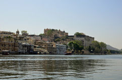 Udaipur and Lake Pichola , Rajasthan, India Royalty Free Stock Images