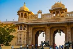 Udaipur miasta pałac broń indu udaipur Fotografia Royalty Free