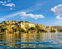 Udaipur miasta pałac Pichola jezioro indu zdjęcie royalty free