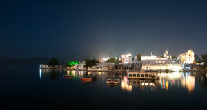Udaipur by night Stock Images