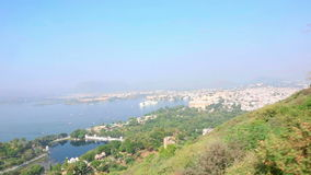 Udaipur panorama stock footage