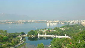 Udaipur panorama stock video