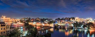 Udaipur przy nocą Udaipur, Rajasthan, India Fotografia Royalty Free