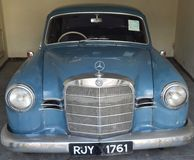 Antique Ford Car/ Cadillac Sedan car/ Rolls Royce car. The collection within the grounds of the Garden Hotel, Udaipur, Rajasthan comprises a variety of classic stock photo
