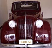 Antique Ford Car/ Cadillac Sedan car/ Rolls Royce car. The collection within the grounds of the Garden Hotel, Udaipur, Rajasthan comprises a variety of classic royalty free stock photo