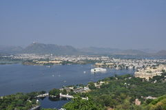 Udaipur, Rajasthan, India. View of the Lake Pichola and old city Royalty Free Stock Images