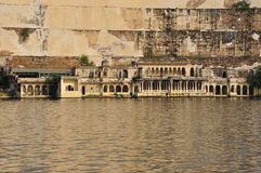 Udaipur, Rajasthan, India. View of the old city waterfront Royalty Free Stock Images