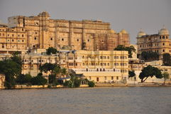 Udaipur, Rajasthan, India. View of the old city waterfront Stock Photo