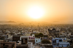 Udaipur Skyline at Sunrise Stock Images