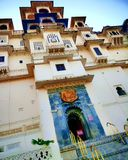 Udaipur stadsslott, Rajasthan, Indien arkivbilder