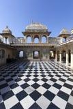 Udaipur stadsslott Fotografering för Bildbyråer