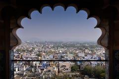 Udaipur-Stadtansicht vom Stadt-Palast Stockfoto