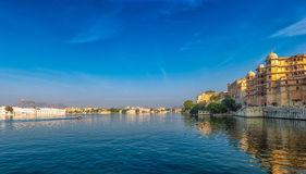 Udaipur view. India. Udaipur view in India Rajasthan Pichola lake Stock Image