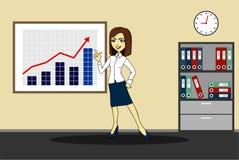 udana biznesowej kobieta ilustracja wektor