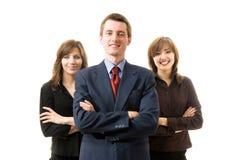 udana drużyna szczęśliwa jednostek gospodarczych Obrazy Stock