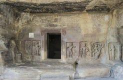 Udayagiri grottor Indien Royaltyfria Bilder
