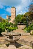 Udayas kasbah的拉巴特摩洛哥北非安达卢西亚的庭院 库存图片