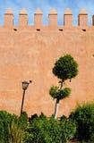 Udayas Kasbah的安达卢西亚的庭院在拉巴特,摩洛哥 免版税库存照片