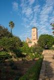 Udayas kasbah的安达卢西亚的庭院 拉巴特 摩洛哥 免版税图库摄影