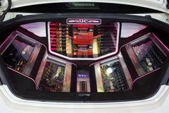 UDC Odysse汽车的声音引擎在2013年12月3日的第30泰国国际马达商展在曼谷,泰国 免版税库存照片