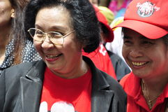 UDD-kvinnlig ordförande Tida Tawornseth Arkivfoton