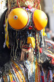 Udda krypmaskering på karnevalet av Venedig Royaltyfri Foto