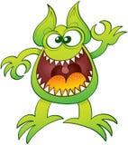 Udda monster som skrattar och gör en reko gest Royaltyfri Fotografi