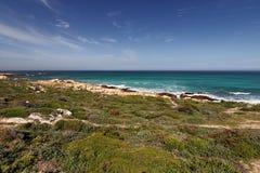 Udde av bra hopp i Atlanticet Ocean, söder av Cape Town, Sydafrika Arkivfoto