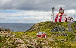 Udde Bonavista Lightstation, Newfoundland, Kanada Fyrstation LL 449 Arkivfoto