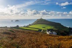 Udde Cornwall England UK Arkivbilder