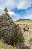 Udde cornwall i Cornwall UK England Arkivbild