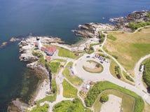 Udde Elizabeth, Maine Lighthouse - över Fotografering för Bildbyråer