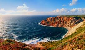 Udde Espichel, Portugal - Atlantic Ocean Royaltyfri Fotografi