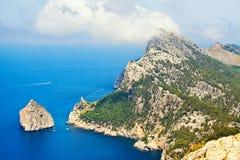 Udde Formentor, Mallorca royaltyfria foton