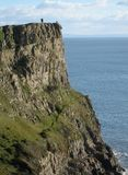 Udde nära Gower Peninsula wales Royaltyfri Foto