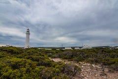 Udde Nelson Lighthouse Arkivfoto