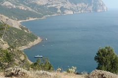 Udde på den sydliga kusten av Sevastopol royaltyfri foto