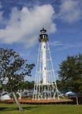 Udde San Blas Lighthouse - storslagen öppning Royaltyfri Bild