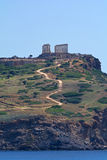 Udde Sounion Royaltyfri Foto