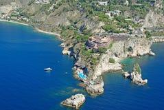 Udde Taormina royaltyfri foto